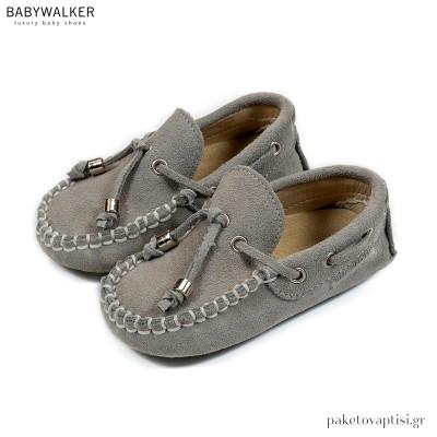 Καστόρινα Δετά Γκρι Loafers Babywalker BW4139