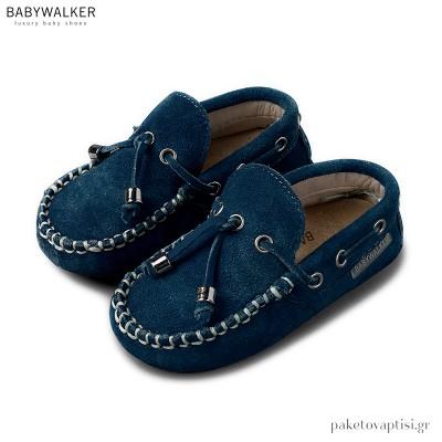 Καστόρινα Δετά Μπλε Ρουά Loafers Babywalker BW4139