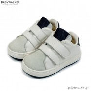 Δερμάτινα Sneakers με Διπλή Μπαρέτα Velcro Babywalker BW4203