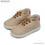 Μπεζ Υφασμάτινα Δετά Sneakers Babywalker BW4205