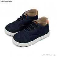 Μπλε Υφασμάτινα Δετά Sneakers Babywalker BW4205