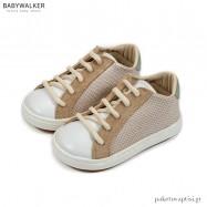 Μπεζ με Λευκό και Μέντα Δετά Sneakers Babywalker BW4207