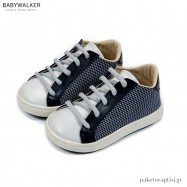 Μπλε με Λευκό Δετά Sneakers Babywalker BW4207