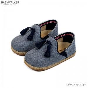 Υφασμάτινες Εσπαντρίγιες με Φουντάκια Babywalker BW4210