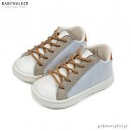 Λευκό με Γκρι και Ταμπά Sneakers Babywalker BS3039