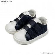 Μπλε με Λευκό Sneakers με Διπλή Μπαρέτα Babywalker BS3054