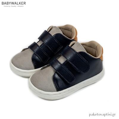 Μπλε με Γκρι Sneakers Babywalker BS3056