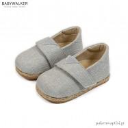 Υφασμάτινες Γκρι Εσπαντρίγιες με Μονή Μπαρέτα Babywalker BS3057