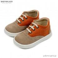Μπεζ με Κεραμιδί Δετά Sneakers Babywalker BS3059