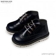Μπλε Δερμάτινα Δετά Brogues Babywalker EXC5157