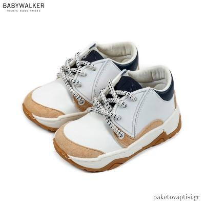 Τρίχρωμα Δετά Sneakers Babywalker EXC5166