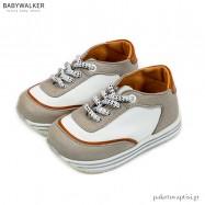 Λευκό με Γκρι Δετά Sneakers Babywalker EXC5191