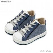 Μπλε με Λευκό Δετά Sneakers Babywalker EXC5199