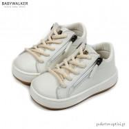 Λευκά Sneakers με Φερμουάρ Babywalker EXC5201