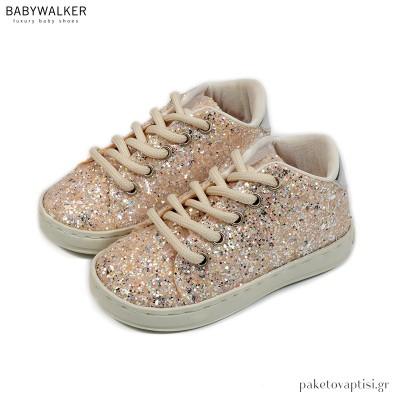 Δετά Sneakers από Glitter Ύφασμα Babywalker EXC5768