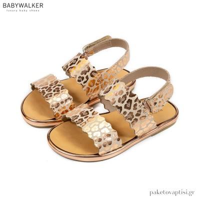 Δερμάτινα Πέδιλα με Κουλεδάκι Babywalker GR0058
