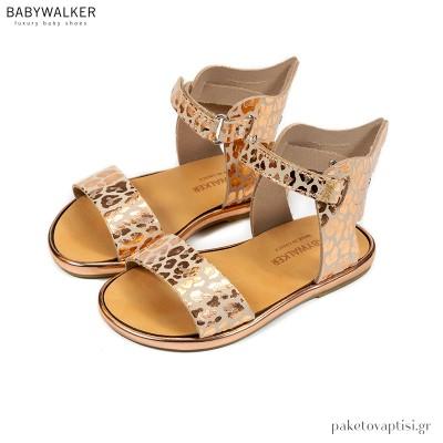 Δερμάτινα Πέδιλα Φτερωτός Ερμής Babywalker GR0059