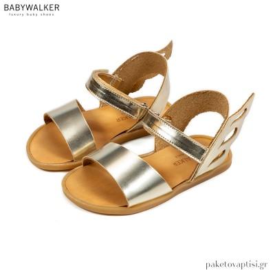 Δερμάτινα Σανδάλια με Φτερό Babywalker GR0061