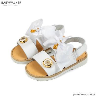Σανδάλια με Φιόγκο και Μεταλλικό Ματάκι Babywalker GR0063