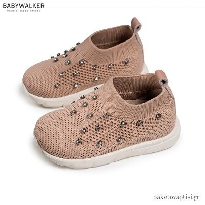 Πλεκτά Sneakers με Strass Swarovski Babywalker LU6066