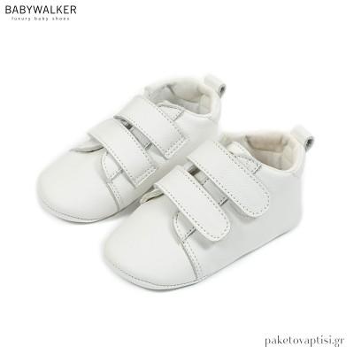 Δερμάτινα Sneakers Αγκαλιάς με Διπλή Μπαρέτα Velcro Babywalker MI1091