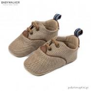 Δετά Sneakers Αγκαλιάς από Ύφασμα και Δέρμα Babywalker MI1093