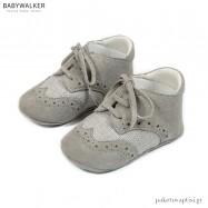 Δετά Γκρι Brogues Αγκαλιάς Babywalker MI1095