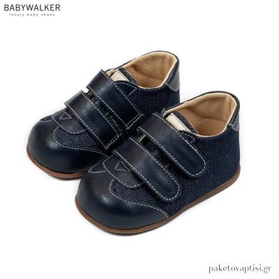 Μπλε Sneakers από με Διπλή Μπαρέτα Babywalker PRI2080