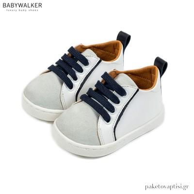 Δερμάτινα Δετά Δίχρωμα Sneakers Babywalker PRI2082