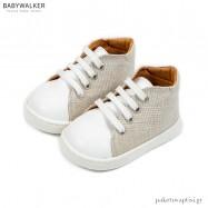 Δετά Sneakers Λευκό με Μπεζ Babywalker PRI2083
