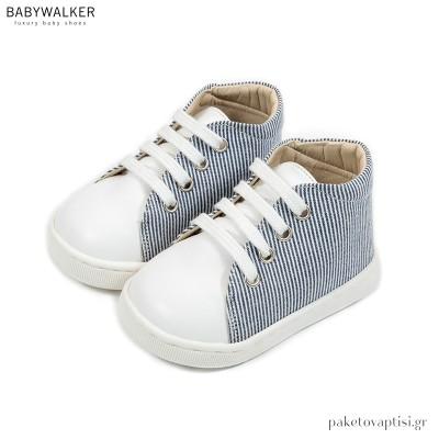 Δετά Sneakers Λευκό με Μπλε Babywalker PRI2083