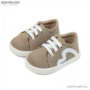 Υφασμάτινα Δετά Μπεζ Sneakers Babywalker PRI2085