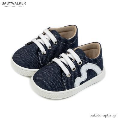 Υφασμάτινα Δετά Μπλε Sneakers Babywalker PRI2085
