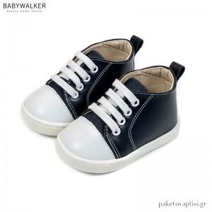 Δερμάτινα Δετά Μπλε Sneakers Babywalker PRI2086
