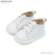 Δερμάτινα Δετά Λευκά Sneakers Babywalker PRI2086