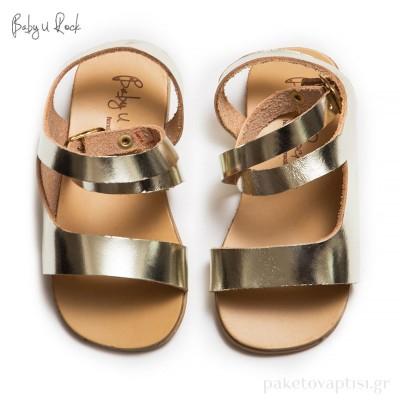 Σανδαλάκια Χρυσά Baby u Rock 500621