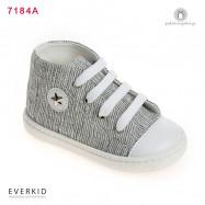 Γκρι Μποτάκι Sneakers με Αστεράκι Everkid 7184A