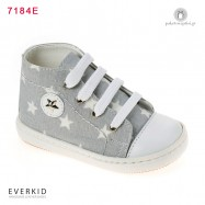Γκρι Μποτάκι Sneakers με Αστεράκια Everkid 7184Ε