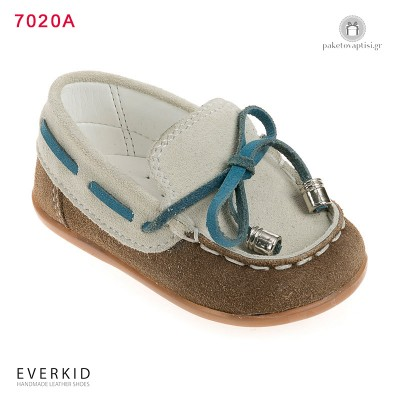 Δίχρωμα Δερμάτινα Loafers για τα Πρώτα Βήματα Everkid 7020