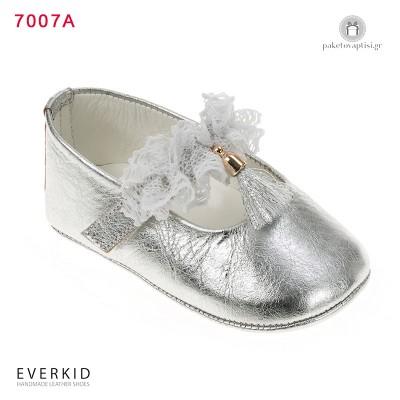 Δερμάτινα Παπουτσάκια Aγκαλιάς με Δαντέλα Everkid 7007