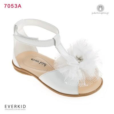 Λευκά Πεδιλάκια για Κορίτσια με Λουλούδι και Στέμμα Everkid 7053