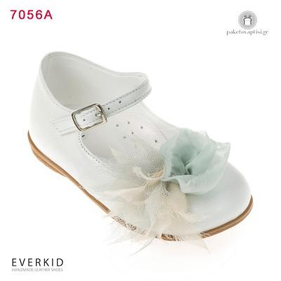 Δερμάτινο Παπουτσάκι για Κορίτσια με Υφασμάτινο Λουλούδι Everkid 7056