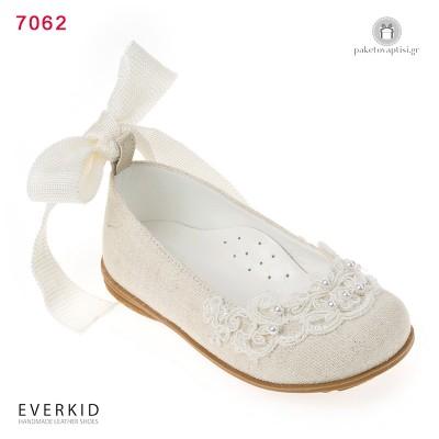 Παπουτσάκια Περπατήματος για Κορίτσια με Δαντέλα και Πέρλες Everkid 7062