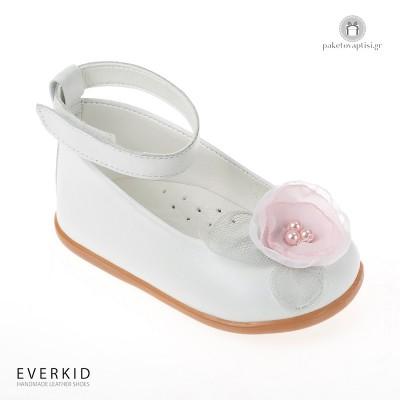 Παπουτσάκια για τα Πρώτα Βήματα με λουλούδι Everkid 7025A