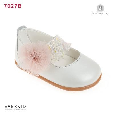 Παπουτσάκια για τα Πρώτα Βήματα με Λουλούδι και Κρόσια Everkid 7027