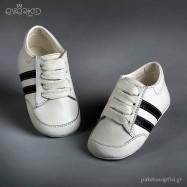 Δερμάτινα Δετά Sneakers Αγκαλιάς Everkid 9105A