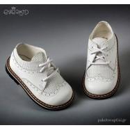 Λευκά Δερμάτινα Brogues για Αγόρια Everkid 9140A