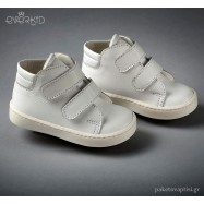 Λευκά Δερμάτινα Ημίμποτα Everkid 9146A