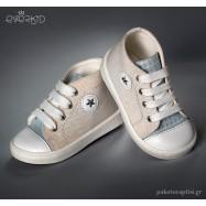 Εκρού με Σιέλ Sneakers Μποτάκια Everkid 9149A