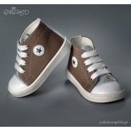 Καφέ με Σιέλ Sneakers Μποτάκια Everkid 9149X